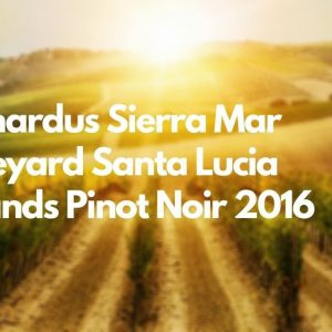 Bernardus Sierra Mar Vineyard Santa Lucia Highlands Pinot Noir 2016