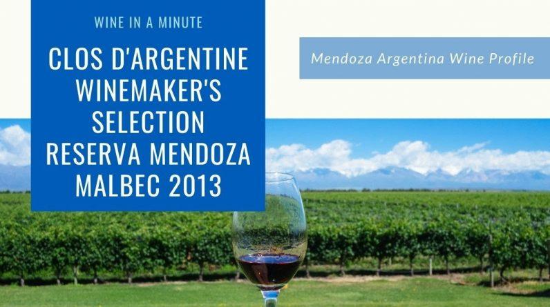 Mendoza Argentina Wine Profile