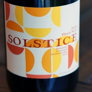 Solstice 2016 Pinot Noir, Momtazi Vineyard, Willamette Valley