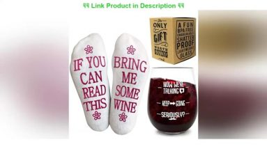 Most Greatest Product VINAKAS Funny Wine Glass+Wine Socks-Perfect gift set women with an UNBREAKABL